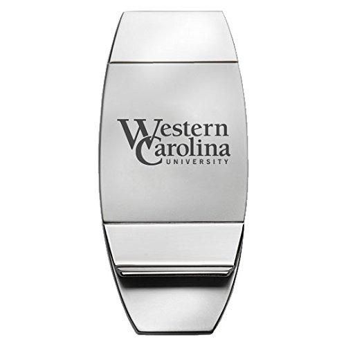 Carolina Clip (Western Carolina University - Two-Toned Money Clip - Silver)