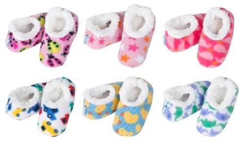 ~Snoozies de bebé Snoozies! ~~de pie para revestimientos de zapatillas de casa (de teléfono de la pequeña~0-3 más posibilidades sin fin, ~(en color blanco) que se reflejan como elefantes)