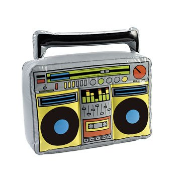 Fun Express - Inflatable Boom Box - Toys - Inflates - Inflatable Decor - 1 Piece -