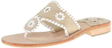 Jack Rogers Women's Rosalie Dress Sandal,Camel/White,5 M US