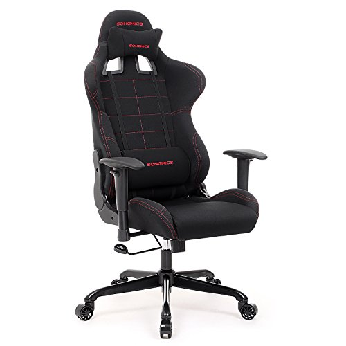 - SONGMICS Gaming Chair Racing Sport Chair Ergonomic High-back Office Chair with the Headrest and Lumbar Support Black URCG001