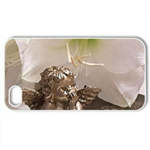 Angelic Still life - Case Cover for iPhone 4 and 4s (Flowers Series, Watercolor style, White)