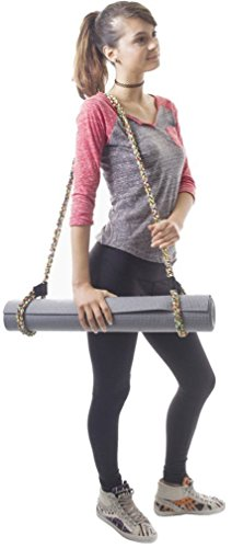 Yoga Mat Sling Strap by Slope Apparel Made of Durable Braided Rope Adjusts to Fit Any Size Rolled Mat Towel or Blanket for Lightweight and Hygienic Carrying (Mat Not Included)
