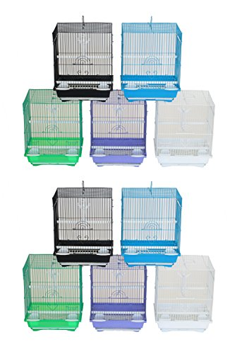 YML Lot of 10 Flat Top Parakeet Cage, Small