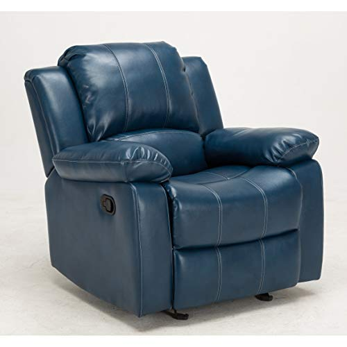 Greyson Living Charleston Leather Gel Recliner by Blue