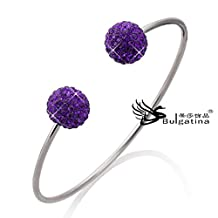 Fashion bracelets bangles women item deep purple color crystal bangles 2013 CH5712