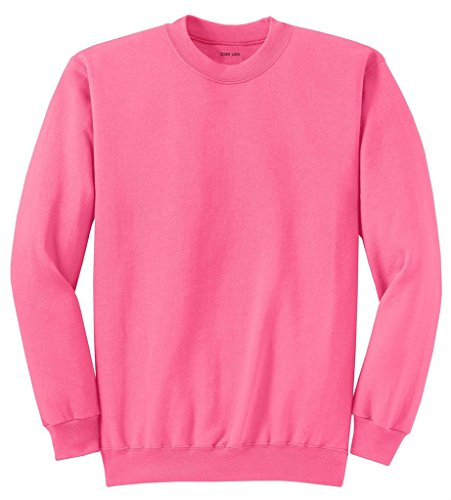 (Joe's USA Adult Classic Crewneck Sweatshirt, M -Neon Pink )
