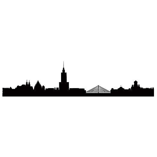 Adhesivo diseño de Varsovia M - 100 cm x 24 cm - tatuaje Duvar ...
