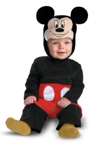 Disfraz Disney Halloween (Disguise My First Disney Mickey Costume, Black/Red/White, 6-12)