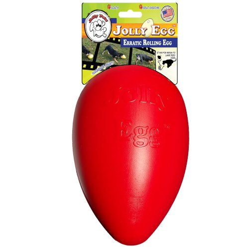 Jolly Pets Push-N-Play Jolly Egg (8 in), Color: Red