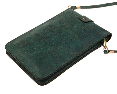 A KISS Crossbody Cellphone GOLD Luxury Leather PU Pouch Matte Model Single Shoulder TM Mini Bag green gw6RnrUgq
