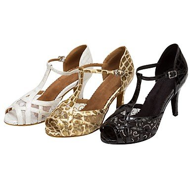 baile Negro golden Personalizado Oro Tacón Salsa Blanco Latino Zapatos de Personalizables 5UwFBxpE7q
