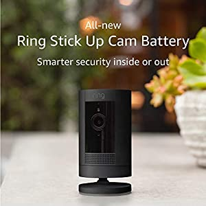 All-new Ring Stick Up Cam Battery | HD security camera with Two-Way Talk, black, Works with Alexa