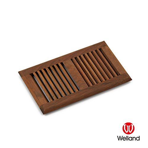 WELLAND 6-inch X 10-inch Brazilian Cherry Louvered Type Hardwood Vent Floor Register Self Rimming Unfinished