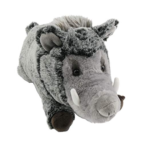 Houwsbaby Realistic Wild Boar Soft Pig Stuffed Animal Plush Toy Gift, 12.5inch