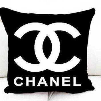 Xusuzhi Coco Chanel Logo Black Pillow Decorative And Case Amazonca Home Kitchen