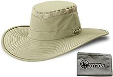 1b90cd5e6d6 Tilley LTM2 Khaki Olive Hat Bundle with Cloth (7 1 4)