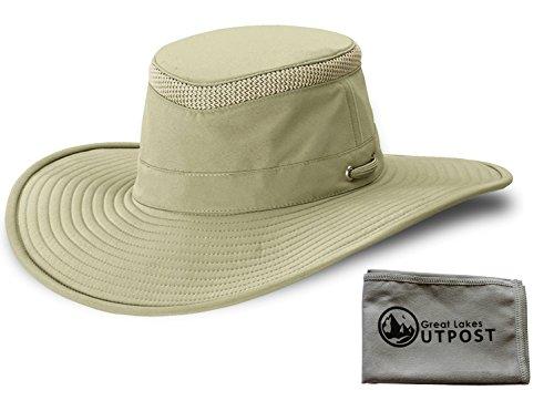 Tilley LTM2 Khaki/Olive Hat Bundle with Cloth (7 1/4) from Tilley