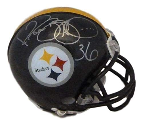 - Jerome Bettis Autographed/Signed Pittsburgh Steelers Mini Helmet JSA