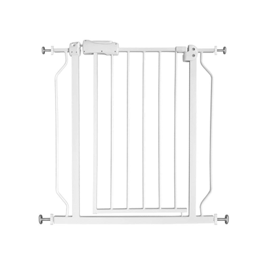 ALLAIBB Walk Through Baby Gate Auto Close Tension White Metal Child Pet Safety Gates with Pressure Mount for Stairs,Doorways and Baniste 43.3-48 in