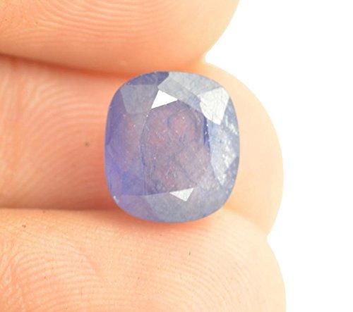 - Getgemstones Blue Sapphire Ceylone Square Cut Loose Natural Certified Precious Indra Neelam Gemstone 3.3 Carat By