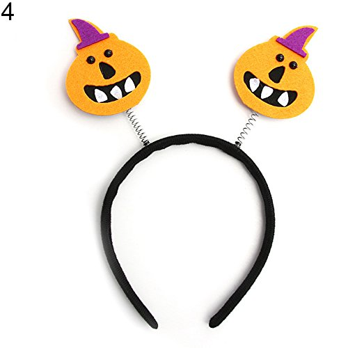 (1pc Halloween Hair Clasp Pumpkin Witch Skeleton Prop Make-up Party Headband 4)