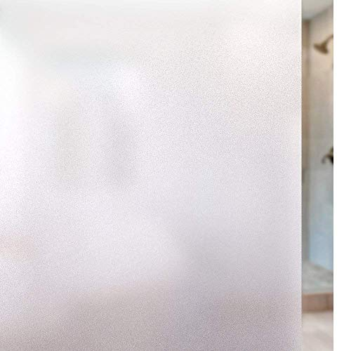 "Privacy Window Film Static Cling Film Frosted Glass Film Anti UV Window Cling No Glue Window Frosting Film Decorative Opaque Glass Window Sticker for Home Privacy, Bathroom Privacy, 17.5"" x 78.7"""
