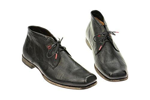 Think Guru - Zapatos de cordones de cuero para hombre negro