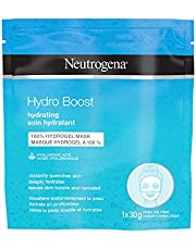Neutrogena Hydro Boost Hydrating Face Sheet Mask, Beauty Face Mask with Hyaluronic Acid, 100% Hydrogel to deeply hydrate skin, 1x30g Mask