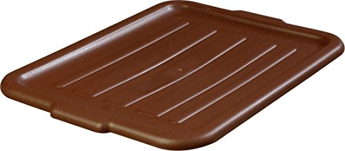 Carlisle 4401201 Comfort Curve Universal Bus/Utility Box Lid, Brown (Pack of 12)