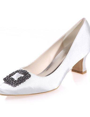 ShangYi Chaussures de mariage - Noir / Bleu / Violet / Rouge / Ivoire / Blanc / Champagne - Mariage / Soirée & Evénement - Bout Carré - Talons - , 2in-2 3/4in-black