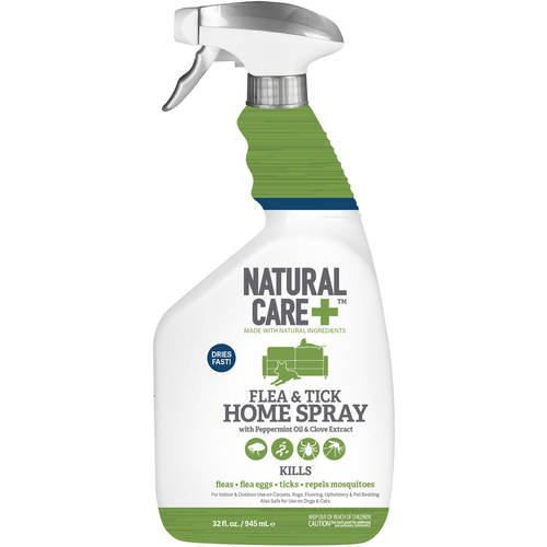Natural Care Flea and Tick Home Spray, 32 oz (Natural Care Flea And Tick Drops For Cats)