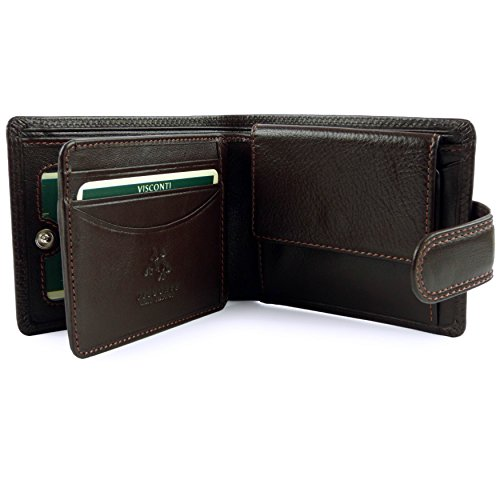 Visconti; Hombre De Mens Heritage Patrimonial Fichas Caja En Tabbed Monedero Brown By Calidad In Colección Por Or Choclate En Boxed Wallet Con Choc Black Visconti; Collection Chocolate Marrón Choclate Para Brown Marrón Leather Cuero Quality Negro O PrqUnHP