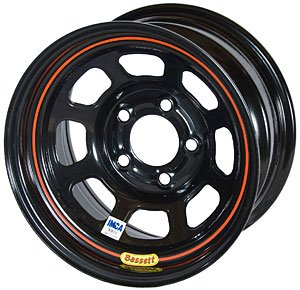 Bassett Wheels 58D52I Black IMCA D-Hole Wheel ()