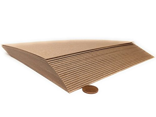 8.5 x 11 Inches 50 Point Kraft Heavy Duty Chipboard Sheets - 20 Per Pack by Logic Dealz