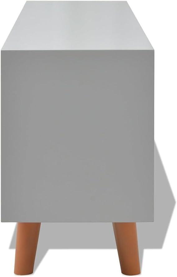 Festnight Amplificador de Sonido Mueble para TV De MDF Muebles TV 120 x 30 x 50 cm Gris: Amazon.es: Hogar
