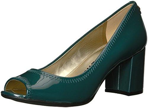 Green Leather Pumps (AK Anne Klein Sport Women's Meredith Patent Pump, Dark Green, 7.5 M US)