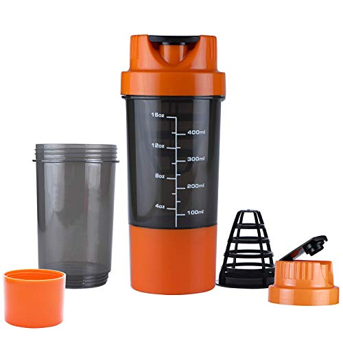 5 O' Clock Sports Carbon-Fiber Cyclone Shaker Bottle, 450Ml (Orange) (B01KG5AKPS) Amazon Price History, Amazon Price Tracker