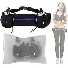 Cadrim Hydration Running Belt With 2 Water Bottles Adjustable Waist Pack Running Belt For Men And Women Perfect for Marathons, Hiking - Pockets Fits iPhones 6/6S Plus,Smartphones