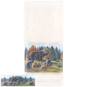 Avanti Linens Black Bear Lodge Hand Towel, Multi