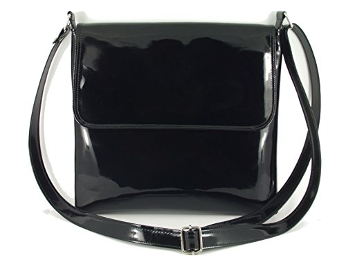x Patent Leather Cross-Body Shoulder Bag Handbag Medium Size ()