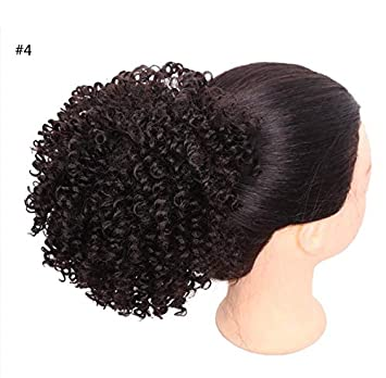Amazon Com Synthetic Chignon Bun Curly Hair With Two