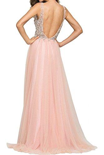 La Langes Festlichkleider Partykleider Kleider Pink Jugendweihe Marie Abendkleider Pailletten Steine Braut 7rq7xSna