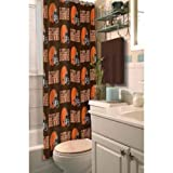 Browns Shower Curtain