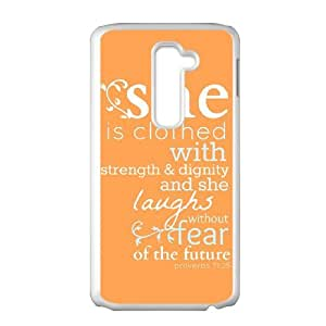 Cool Design Popular Bible Quote Proverbs 31:25 Covers Cases Accessories for LG G2