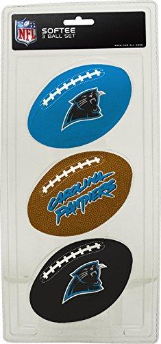 (NFL Carolina Panthers Kids Softee Football (Set of 3), Small, Blue)