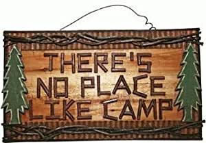 """Amazon.com: """"There's No Place Like Camp"""" Rustic Hand ..."""