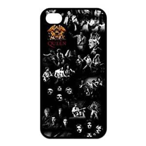 Queen Rock Band Custom Design Black Silicone Case for iPhone 4 / 4S