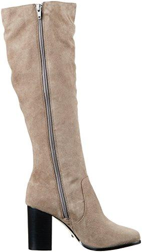 Women's Taupe 415 Buffalo Boots Long Suede 8882 Grey 01 London Kid Hgxx5BqUf