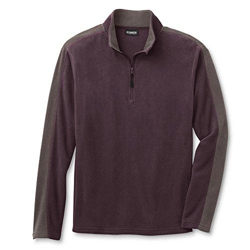 Outdoor Life Men's Microfleece Quarter-Zip Shirt Colorblock Size X - Quarter Zip Jacket Colorblock